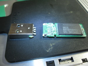 USBフラッシュメモリのコネクタ破損